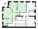 Plan de l'appartement n°3 et 5  au 1er et 2ème étage