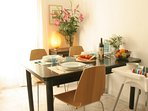 Dining Table for 4, High Chair for small kids