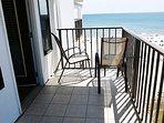 Bedroom balcony.  Unobstructed view of beach.