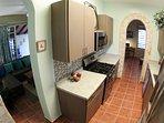 First Level Kitchen (gas range, dishwasher, microwave & full size fridge