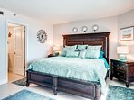 At the end of the day, relax in the master bedroom's king-sized bed.