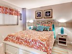 You'll sleep like royalty in this queen size bed.