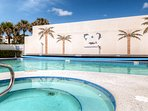 Take a dip in the refreshing condo pool.