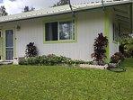 Coqui Ohana- Front Door & Yard Area