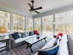 Screened Porch opens to Patio and Pool