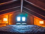 THE LOFT AREA ... 3. bed room under the roof. accessible via a wooden ladder
