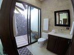 Room 3 Bathroom with Tropical Outdoor Shower