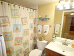 Second bathroom with beach appointments.