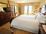 Master Bedroom dresser, mirror, HDTV and access to Gulf Balcony and Views!