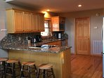 Gourmet kitchen with beautiful granite counter tops