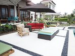 Lovely Patio furniture sets this villa apart from most