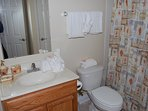 Oak Shores Studio  56-Bathroom with Vanity and Tub/Shower
