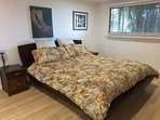 Bedroom 2 has another king size bed and built-in robe.  Pedestal fan