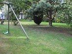 Swings in the garden.