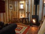 A cosy wood burner awaits you!