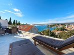 Terrace offering sutunning views of Cavtat bay