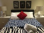 Queen bed with 2  large sets of drawers