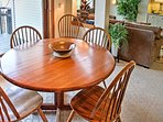 Enjoy your tasty home-cooked meals gathered around this 4-person dining table.