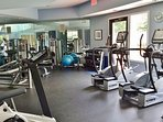 Get a quick workout in at the fitness room.