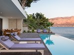 sunloungers with fantastic views