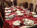 Dining table can accommodate up to 12 if you have guests. Ask about 'special occasion' preparations.