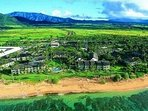 Oceanfront Islander on the Beach Aerial View