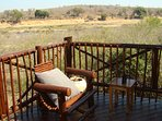 Relax on our deck and watch the animals of Kruger Park come down to the river. Best view in Marloth