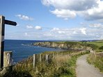 Award-winning South West Coastal Path, only minutes away