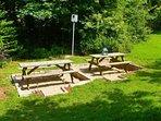 The sunny barbecue area.