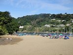 The popular family beach at Millbay, a short ferry ride away.