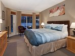 Master Bedroom with King Split Bed and Flat Screen TV
