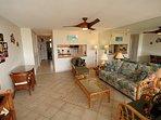 Hawaiian themed living room.