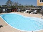 Pool,Water,Sign,Bench,Resort