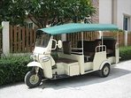 Free Tuk Tuk for transport to beach and shopping centres