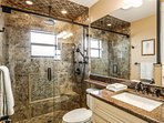The Second Bathroom with Walk in Shower