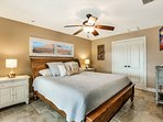 The Master Bedroom with King Size Bed