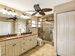 The Master Bathroom with Walk in Shower