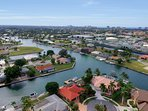 Aerial View of the House and Marco Island