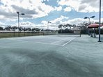 One of two lighted tennis courts to keep up your game during your stay - either day or night.