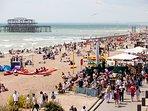 Brighton Beach 10 minutes walk