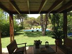 Beautiful liaison of the Villa with gardens, pool and landscape