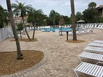 Pool Area.  Lots of chairs available.