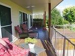 Dine or relax on the large verandah