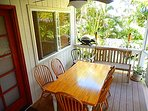 Choice of indoor or outdoor cooking and eat in the front porch and catch a glimpse of the sunset ...