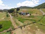 Entire Hacienda, Hillside & Casita  Aerial View