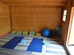 Yoga anyone - your own private yoga room with DVDs and mats 50Euros to use