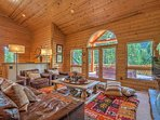 Great room with gorgeous Aspen and Pine tree views