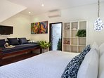 Bedroom 3 Deluxe poolside guest room with big comfortable day bed/extra single bed