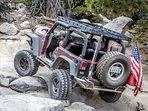 Jeep on Rock