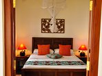 All our beds have deep mattresses and the protection of a mosquito net, perfect for a relaxing night